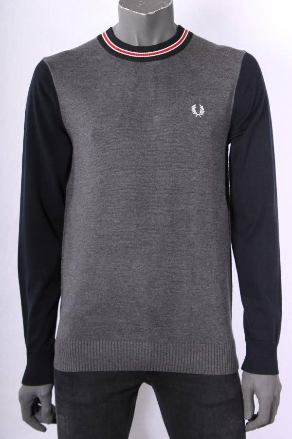 Trui_Fred_Perry_Donkerblauw_Grijs